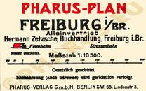 Pharus-Plan Freiburg 1925 Legende
