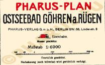 Pharus-Plan Göhren 1914 Legende
