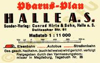 Pharus-Plan Halle 1939 Legende