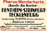 Pharus-Plan Bentheim, Steinfurth, Tecklenburg 1920