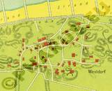 Pharus-Plan Baltrum 1925 Ausschnitt Westdorf