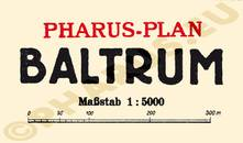 Pharus-Plan Baltrum 1925 Legende