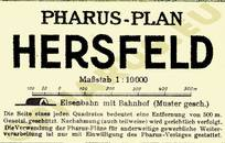 Pharus-Plan Bad Hersfeld 1925 Legende