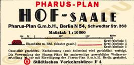 Pharus-Plan Hof 1936 Legende