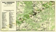 Pharus-Plan Bad Kissingen 1930 Umgebungsplan