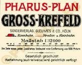 Pharus-Plan Krefeld 1925 Legende