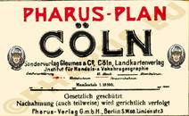 Pharus-Plan Köln 1922 Legende