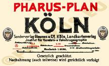 Pharus-Plan Köln 1932 Legende