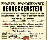 Pharus-Plan Benneckenstein 1930 Legende