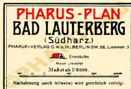 Pharus-Plan Bad Lauterberg 1920 Legende