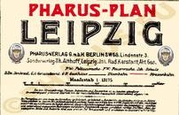 Pharus-Plan Leipzig 1921 Legende