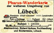 Pharus-Plan Lübeck 1922 Legende