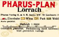 Pharus-Plan Lörrach 1930 Legende