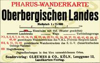 Pharus-Plan Oberbergisches Land 1930 Legende