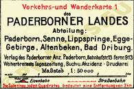 Pharus-Plan Paderborn 1925 Legende