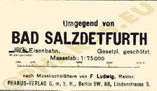 Pharus-Plan Salzdetfurth, Bad 1925 Legende