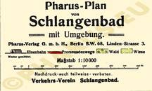 Pharus-Plan Schlangenbad 1922 Legende