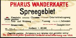 Pharus-Plan Spreegebiet 1920 Legende