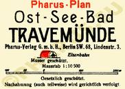 Pharus-Plan Travemünde 1920 Legende