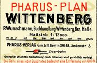 Pharus-Plan Wittenberg 1920 Legende