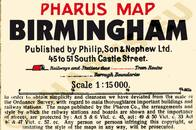 Pharus-Plan Birmingham 1920 Legende