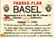 Pharus-Plan Basel 1909 Legende