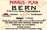 Pharus-Plan Bern 1921 Legende