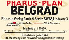 Pharus-Plan Belgrad 1912 Legende