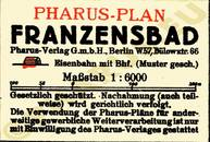 Pharus-Plan Franzensbad 1930 Legende
