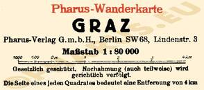 Pharus-Plan Graz 1924 Legende