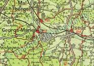 Pharus-Plan Bad Rothenfelde 1925, (Teutoburger Wald) Ausschnitt Georgs-Marien-Hütte