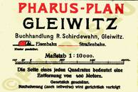 Pharus-Plan Gleiwitz 1925 Legende