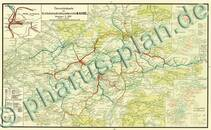 Pharus-Plan Reichsbahndirektion Kassel 1929 Kartenseite