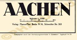 Pharus-Plan Aachen 1938 Legende