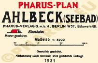 Pharus-Plan Ahlbeck 1931 Legende