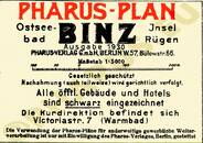 Pharus-Plan Binz 1930 Legende