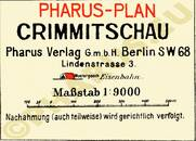 Pharus-Plan Crimmitschau 1925 Legende