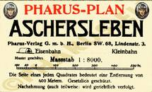 Pharus-Plan Aschersleben 1914 Legende