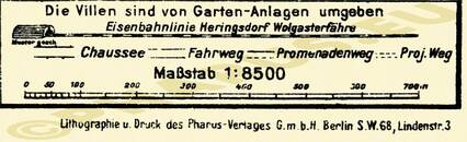 Pharus-Plan Zinnowitz 1922 Legende