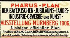 Pharus-Plan Nürnberg 1906 Legende