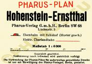 Pharus-Plan Hohenstein-Ernstthal 1928 Legende