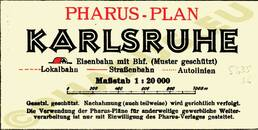 Pharus-Plan Karlsruhe, 1930 Legende
