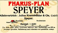 Pharus-Plan Speyer 1921 Legende