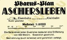 Pharus-Plan Aschersleben 1934 Legende