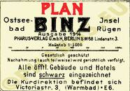 Pharus-Plan Binz 1914 Legende