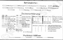 Pharus-Plan Reichsbahndirektion Altona 1931 Legende