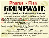 Pharus-Plan Grunewald 1935 Legende