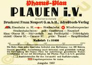 Pharus-Plan Plauen 1937 Legende