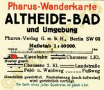 Pharus-Plan Bad Altheide 1926 Legende