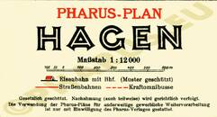 Pharus-Plan Hagen 1929 Legende